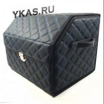 Сумка органайзер в багажник «M» 45/30/30 черный/шов синий