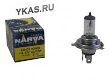 Автолампа Narva 12V   H4    60/55W   P43t   +30%  RANGE POWER