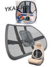 """Накидка - подставка для спины """"Nova Bright""""  каркасная с массажем черного цвета (40x39см)"""