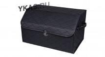 Сумка органайзер в багажник «M» 45/30/30 черный/шов черный