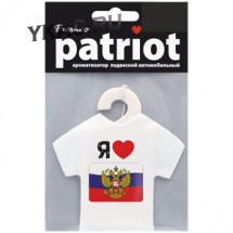 """Осв.воздуха  подвесной Patriot """"Я люблю Россию ФЛАГ"""" Вишня и миндаль"""
