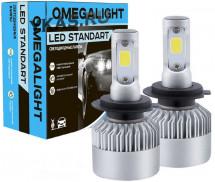 Omegalight Cвет-од  ST LED H7  6000K  2400Lm  2шт.