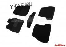 Коврики текстильн. Ford Focus III 2010-2020г. /компл.5шт./осн.резин./ 3D  (МКПП)