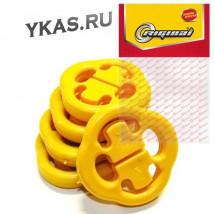 RG Подушка крепления глушителя  ВАЗ-2108-15,111 кт 5шт (бублик) полиуретан
