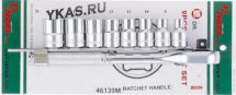 "Инструмент HANS. Комплект торц.головок на планке с трещёткой на 1/2"" 8-19мм 7пр."