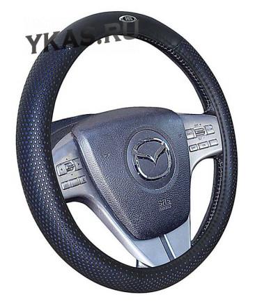 Оплетка на руль   H&R  BUGATTI - М, Синий