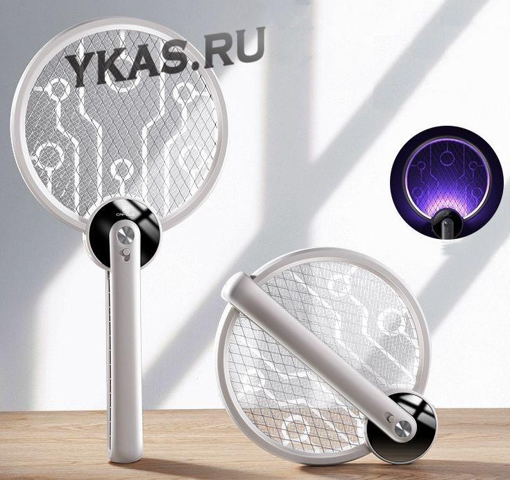 Мухобойка электрическая Cafele акб 1000mAh с фонариком (3500v)