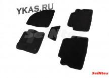Коврики текстильн. Ford Kuga II 2013-2016г. /компл.5шт./осн.резин./ 3D