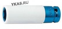 "FORSAGE. Торц. головка ударная  глубокая 1/2"", 21мм 6гр., L=85мм (для литых дисков с защитн.кожухом)"