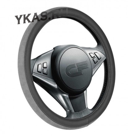 Оплетка на руль   CF  FLIP - М,  Чёрный/Серый/Серый