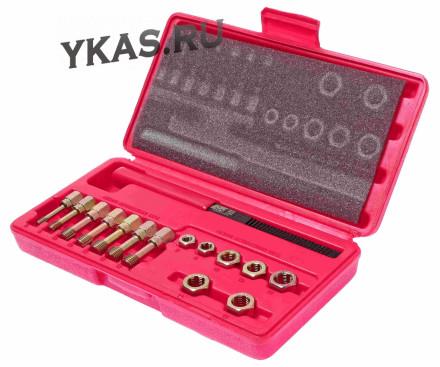 Набор для восстановления резьбы M6x1.00-М12х1.75, 15 предметов (в кейсе)_15100