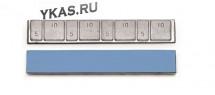 Балансировочный грузик самоклеющийся ТОНКИЕ (синий скотч)  60гр.(4х5гр/4х10гр.)  (50шт)