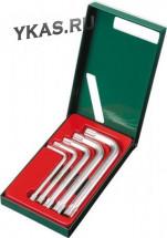 Инструмент HANS. Комплект угловых ключей L-шестигранников 5-12мм, 5предм.