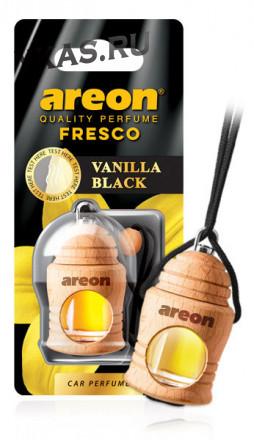 """Осв.возд. Areon FRESCO """"бутылочка в дереве"""" Vanilla BLACK"""