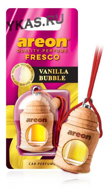 """Осв.возд. Areon FRESCO """"бутылочка в дереве"""" Vanilla BUBBLE"""