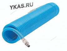 Шланг полиуретановый спиральный 8х12 мм, 10 м_19169