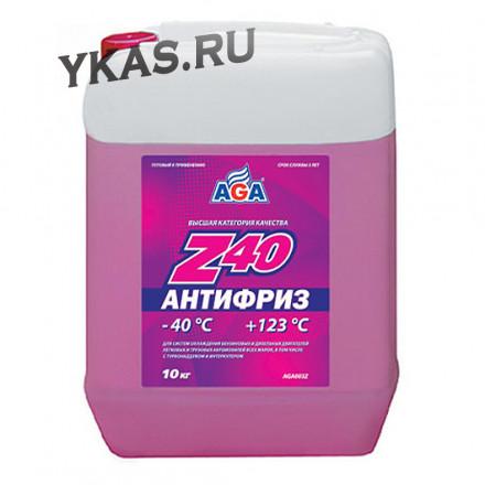 AGA 003Z Антифриз  10литр., красный , -40С