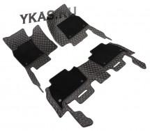 Коврики  Skoda Kodiag  2016 черный с бежевой строчкой  5D PREMIUM