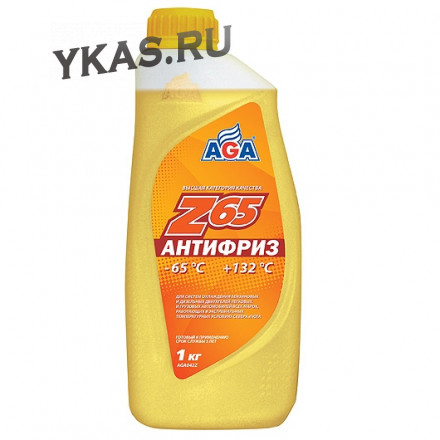 AGA 042Z Антифриз  1литр., желтый , -65С