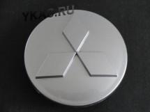Заглушка (колпачок) на литой диск мод. MITSUBISHI  серебро  ( D82/D79)