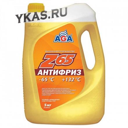 AGA 043Z Антифриз  5литр., желтый , -65С