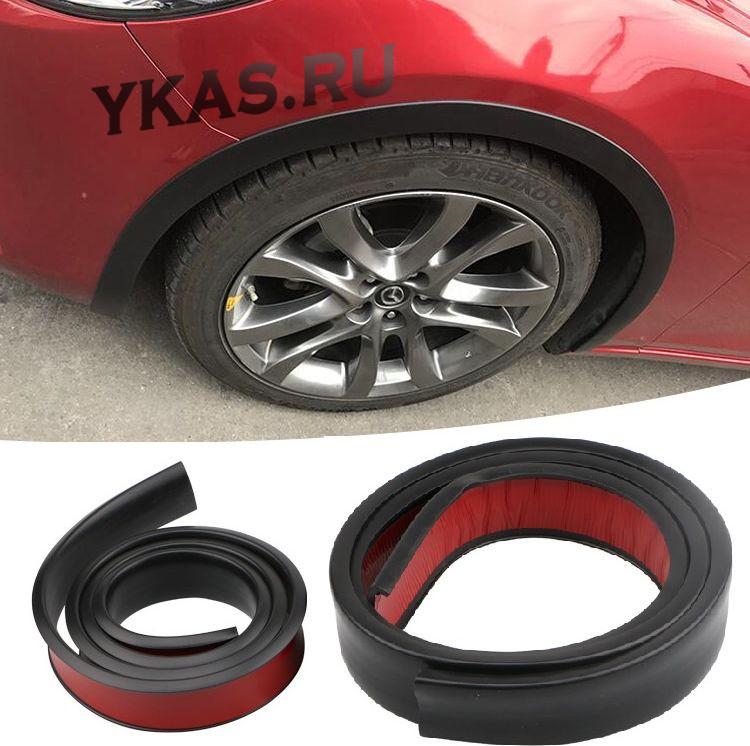 Накладки на арки колес  150х3,8см черный