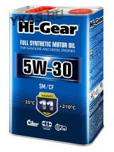 HG0034  Масло синтетическое 4л  5W-30  SM/CF FULL SYNTHETIC MOTOR OIL