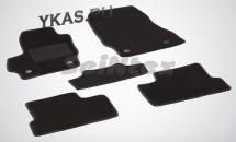 Коврики текстильн. Mazda 3 II 2009-2013г. /компл.5шт./осн.резин./ LUX