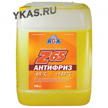 AGA 044Z Антифриз 10литр., желтый , -65С