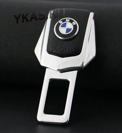 "Блокировка ремня безопасности металл +кожа  ""BMW""  2шт."