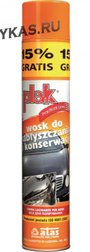 ATAS   PLAK   WOSK  500 ML-спрей.Воск для полировки лака на основе натур.восков