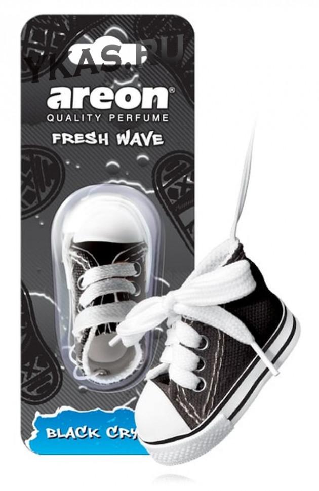 Осв.возд. Areon FRESH WAVE  FW01 Black Crystal (кеды)