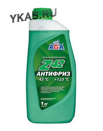 AGA 048Z Антифриз  1литр., зеленый , -42С