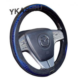 Оплетка на руль   H&R  CROCODILE - M, Чёрный/Синий