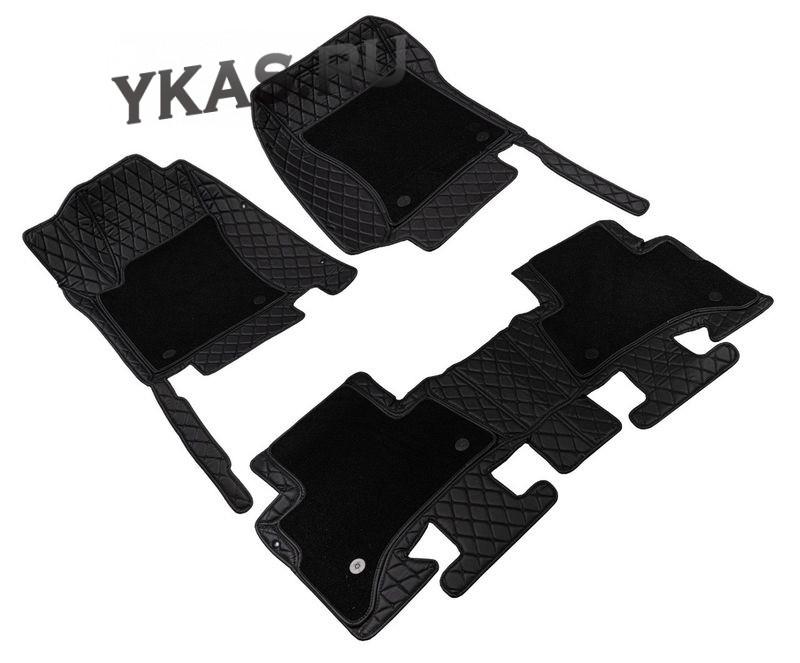 Коврики  Toyota Camry VII  XV50/55  2011-2017 черный с черной строчкой  5D PREMIUM