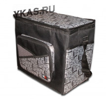 Сумка-холодильник COOLER BAG    Чёрно-Серый YF-1266  (38 x 46 x 43 см)