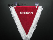 Вымпел треугольный  NISSAN  (бордо)