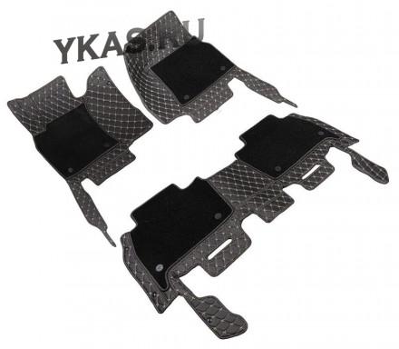 Коврики  Toyota Camry VIII  V70  2018г.- черный с бежевой строчкой  5D PREMIUM