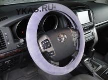 Оплетка на руль Gabarit YC08811 L  искус.мех  (серый)