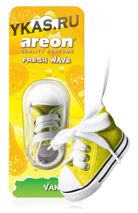 Осв.возд. Areon FRESH WAVE  FW03 Vanilla (кеды)