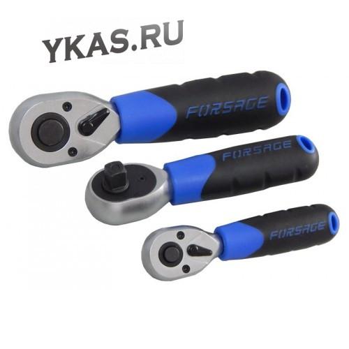 """FORSAGE. Трещотка реверсивная 1/2""""L-170мм с резиновой ручкой (72зуб)"""