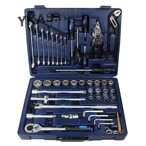 Apelas. Набор инструмента CS-TK45PMQ-6 1/2''DR 6-гран. 45предм.