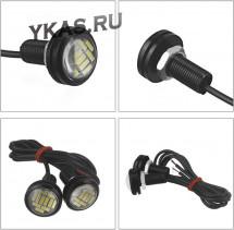 Ходовые огни  SOLAR 1 LED  23*32*23мм  линза , металл, врезные, 1шт черный