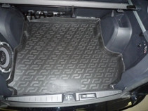 Коврик багажн.  Mitsubishi Outlander  XL саб. (07-)   (РЕЗИНА)