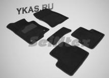 Коврики  Honda Accord VIII 2008-2012г. /компл.5шт./осн.резин./ 3D