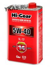 HG1140  Масло  полусинтетическое 1л  5W-40  SL/CF SYNTHETIC BLEND MOTOR OIL
