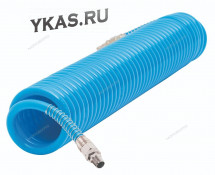 Шланг воздушный спиральный полиуретановый Ø10х14мм, 10м_41839