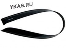 Дефлекторы стёкол  Skoda Fabia  2007-2013.г  НЕЛОМАЮЩИЕСЯ  накладные  к-т 4 шт.