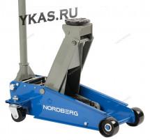 ДОМКРАТ подкатной 3 тонн 120-450 мм с резиновой насадкой_50812