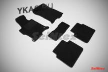 Коврики текстильн. Honda Accord IX c 2012г. /компл.5шт./осн.резин./ LUX